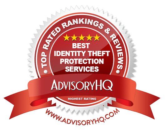 Best Identity Theft Protection Services Red Award Emblem