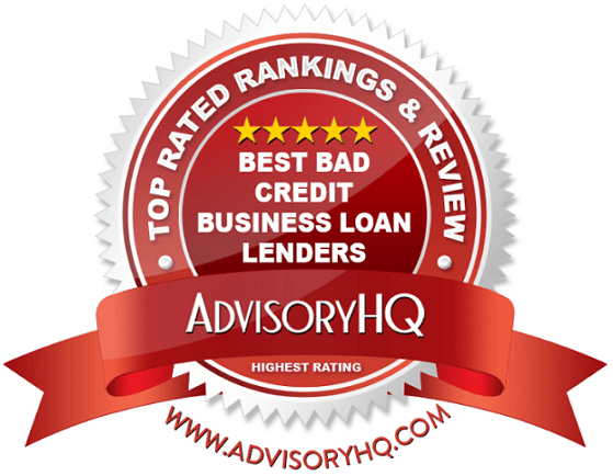 Best Bad Credit Business Loan Lenders Red Award Emblem