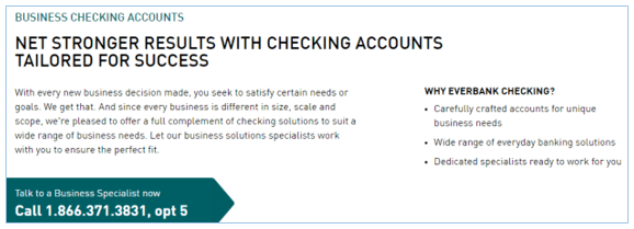 EverBank Business Checking Accounts Review-min