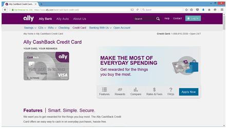 web screenshot of ally bank reviews
