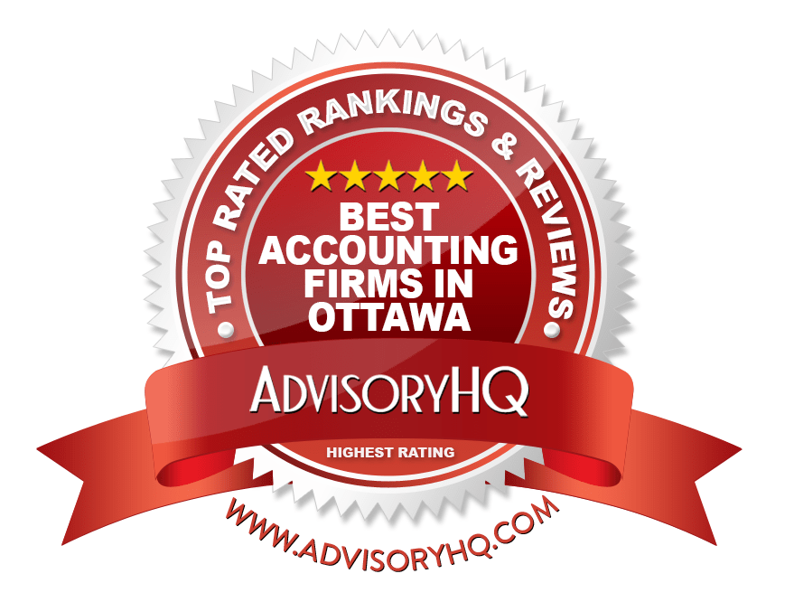 Best Accounting Firms in Ottawa Red Award Emblem