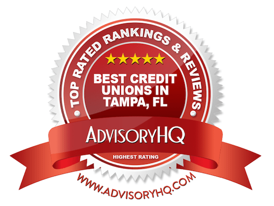 Best Credit Unions in Tampa, FL Red Award Emblem