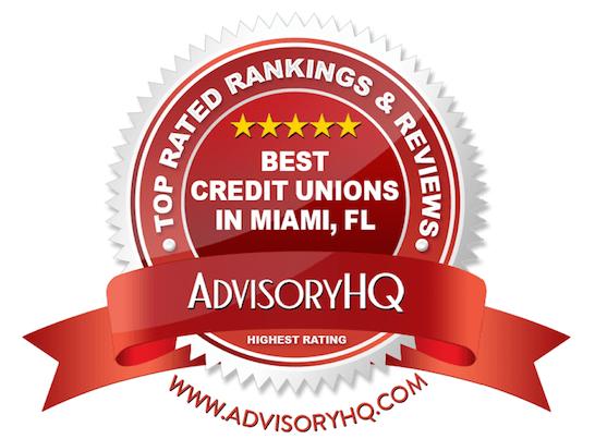 Best Credit Unions in Miami, FL Red Award Emblem