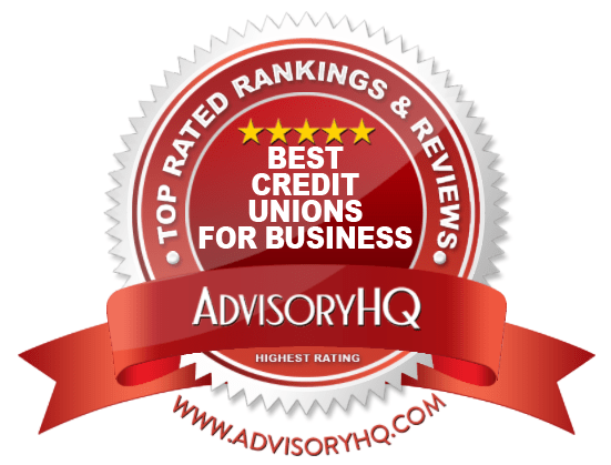 Best Credit Unions for Business Red Award Emblem