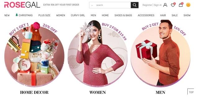 RoseGal: Best Shein Alternative Sites