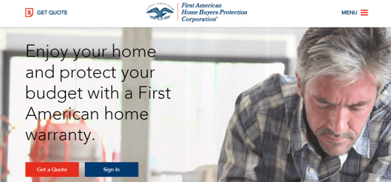 first american home warranty coverage
