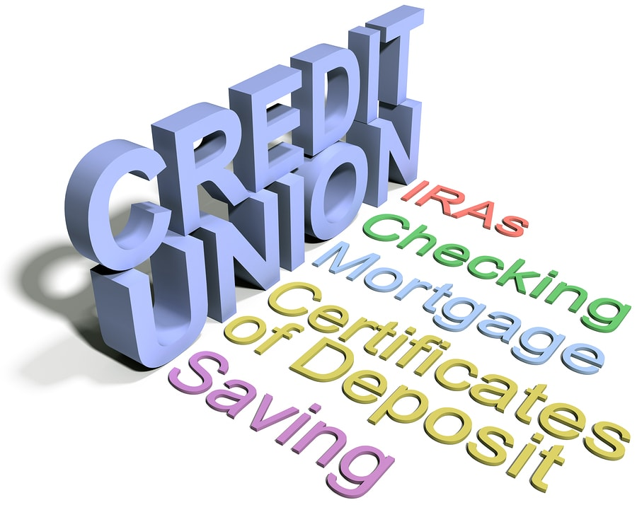 Abbott Laboratories Employees Credit Union Review - A word graphic that has credit union as the main focus and IRA's, Checking, Mortgage, Certificates of deposit, and savings as sub topics