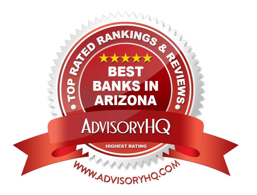Best Banks in Arizona Red Award Emblem