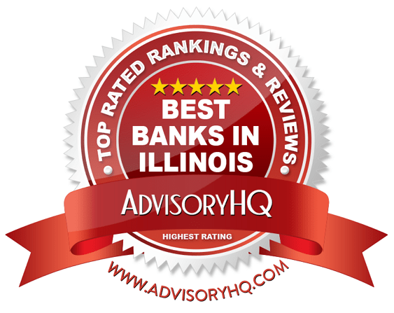 Best Banks in Illinois Red Award Emblem