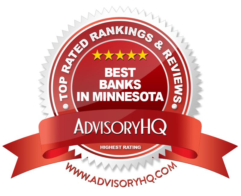 best banks in minnesota red award emblem