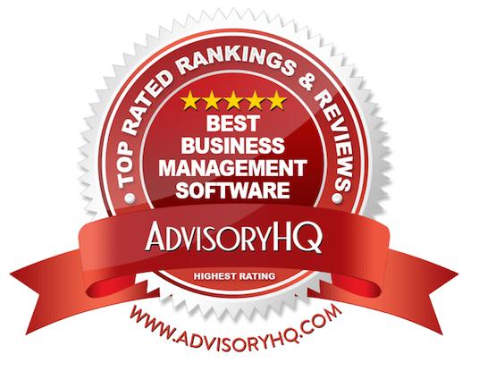 Best Business Management Software Red Award Emblem