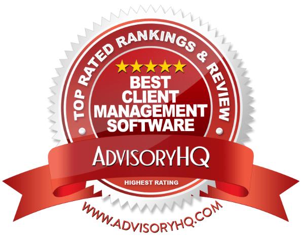 Best Client Management Software Red Award Emblem