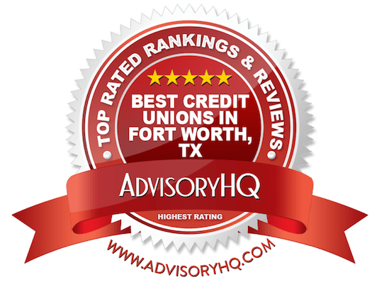 Best Credit Unions in Fort Worth, TX Red Award Emblem