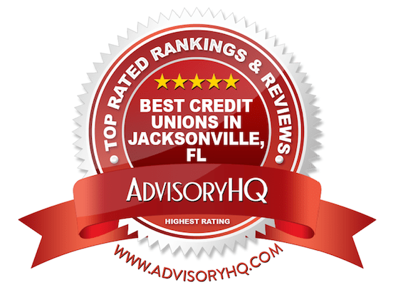 Best Credit Unions in Jacksonville, FL Red Award Emblem