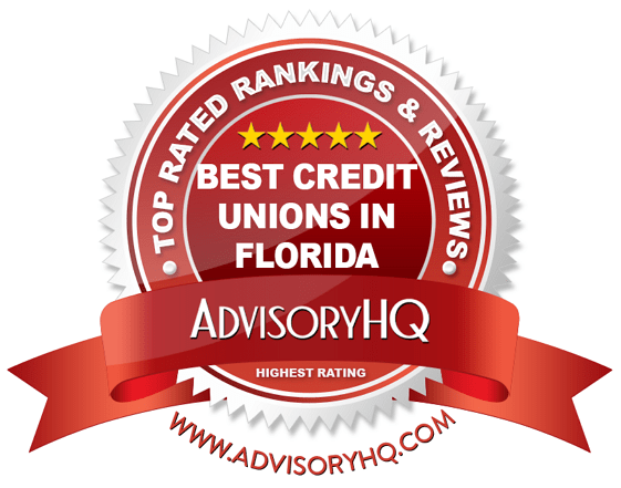 Best Credit Unions in Florida Red Award Emblem