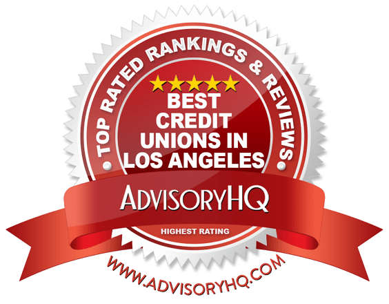 Best Credit Unions in Los Angeles Red Award Emblem