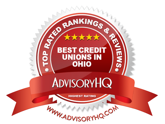 Best Credit Unions in Ohio Red Award Emblem