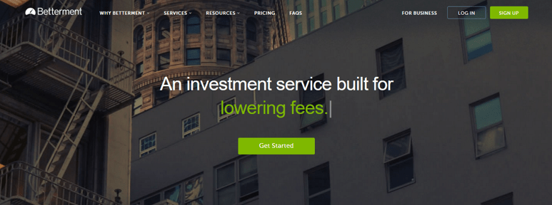 Betterment - Best Fintech Startups