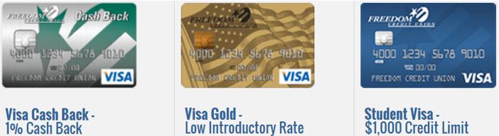 Freedom Credit Union Freedom Visa Card