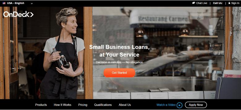 OnDeck - fintech startup firms