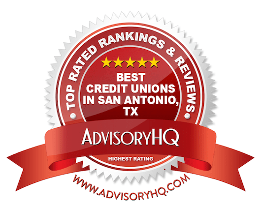 Best Credit Unions in San Antonio, TX Red Award Emblem
