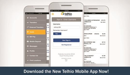 Telhio Credit Union mobile app-min