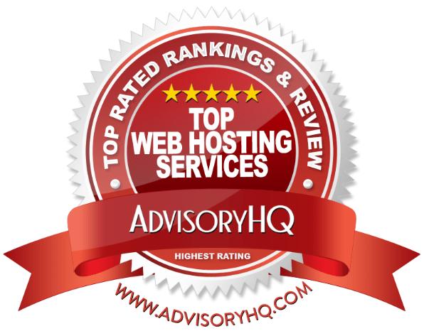 Top Web Hosting Services Red Award Emblem