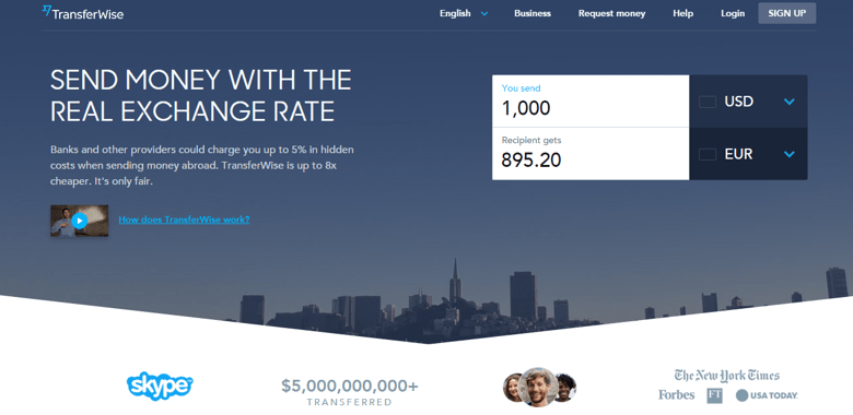 TransferWise - financial technology