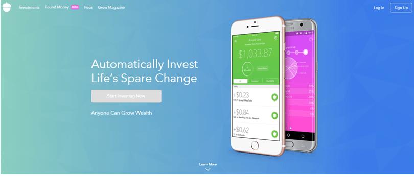 Screenshot of Acom website app to show acorn investing app reviews
