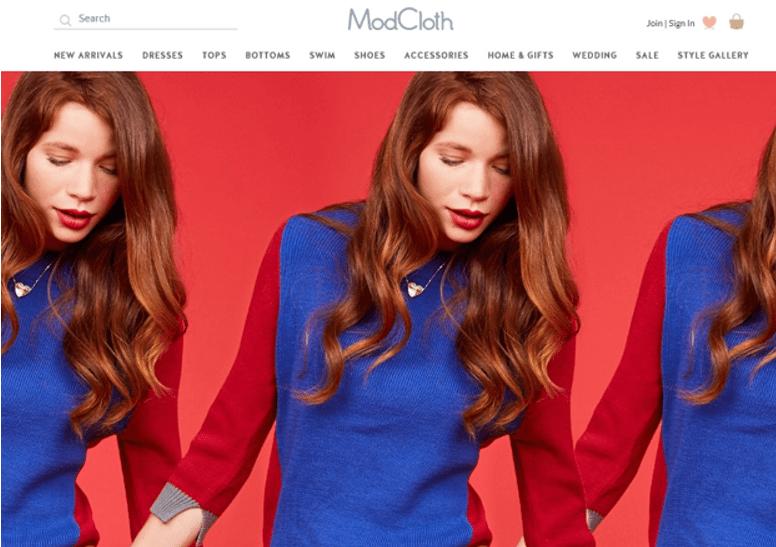 Online shopping like modcloth
