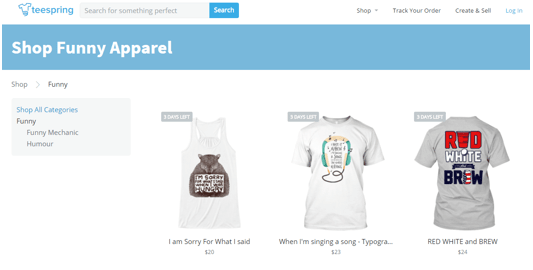 teespring competitors