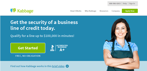 Kabbage - business loans with bad credit