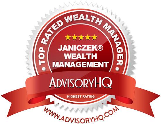 Janiczek Wealth Management Red Award Emblem
