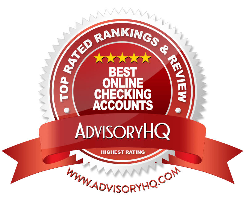 Best Online Checking Accounts Red Award Emblem