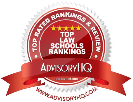 Top Law School Rankings Red Award Emblems