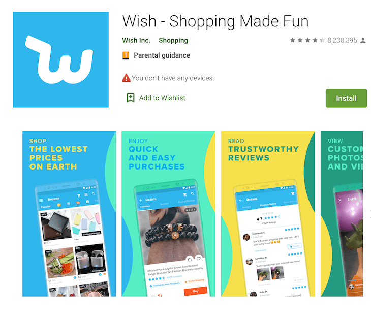 what is wish app