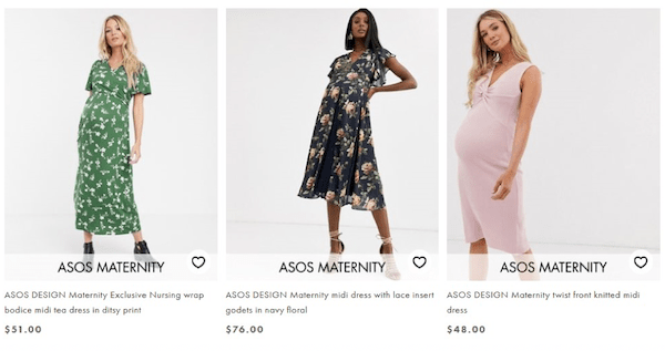 ASOS maternity clothes