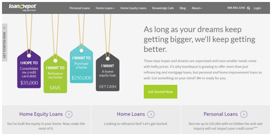 Best Home Refinance Companies like loanDepot