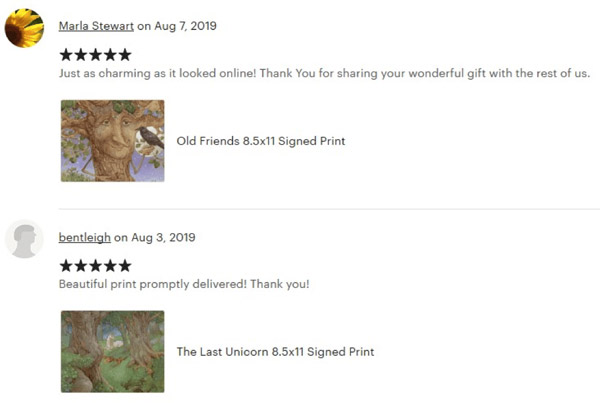 etsy buyer review example