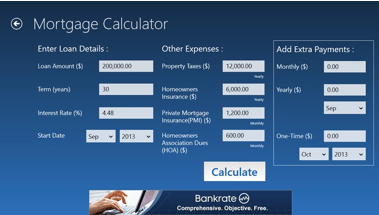 mortgage calculator with amortization