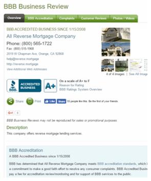 Reverse Mortgage Company