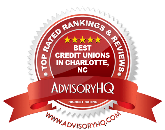 Best Credit Unions in Charlotte, NC Red Award Emblem
