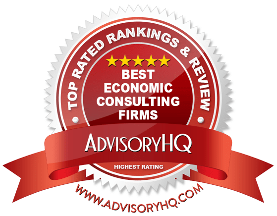 Best Economic Consulting Firms Red Award Emblem