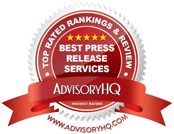 Best Press Release Services Red Award Emblem