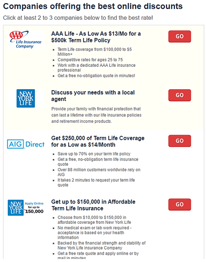 Good Best Life Insurance Rates Min