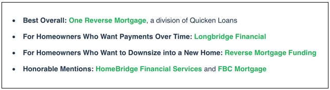 best reverse mortgage-min