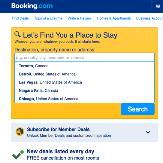 Booking Accommodations Booking.Com Thanksgiving Deals