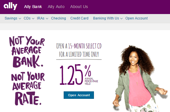 Ally Bank – Online Savings Account - Top Online Savings Accounts