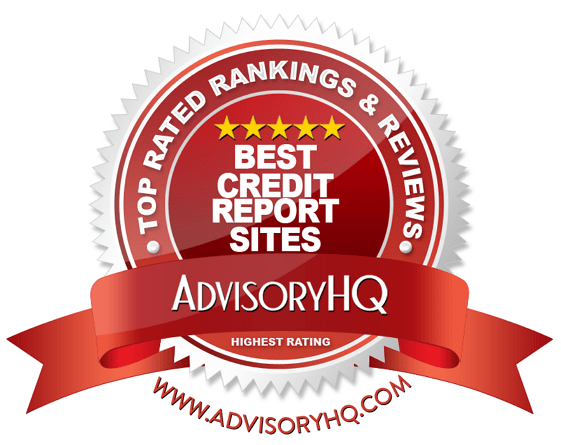 Best Credit Report Sites Red Award Emblem
