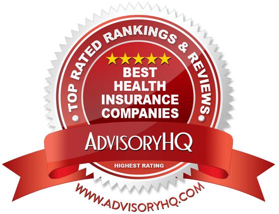 best health insurance companies red award emblem